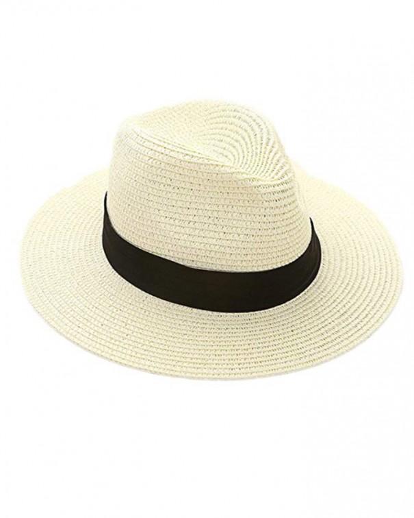 cappello in paglia cappello bianco tesa nera