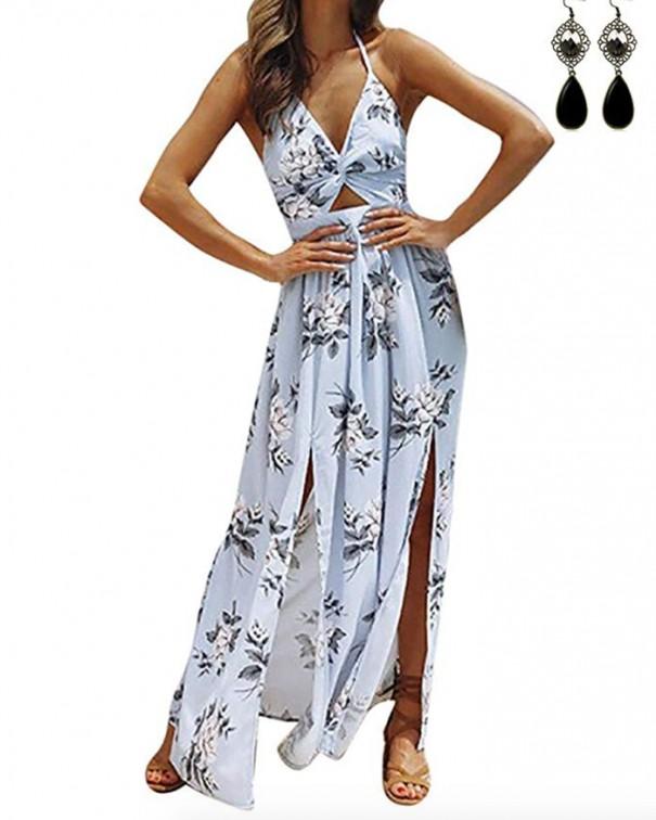 si ai maxi dress vestito fiori