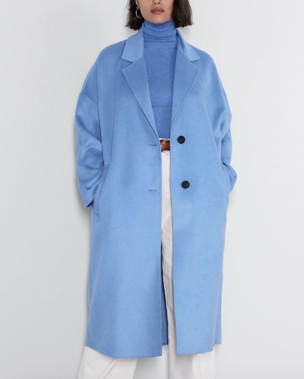 Cappotti larghi blu
