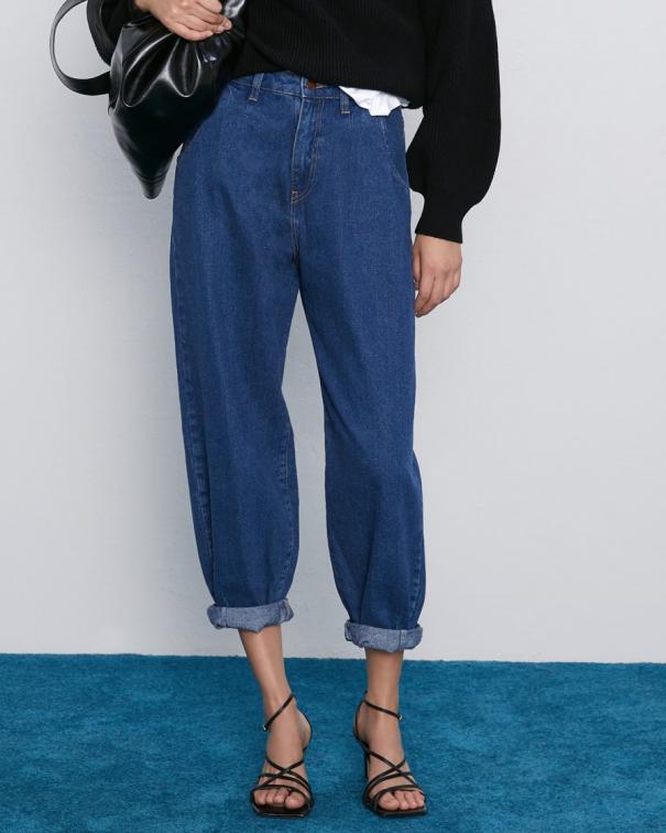 jeans oversize con pinces