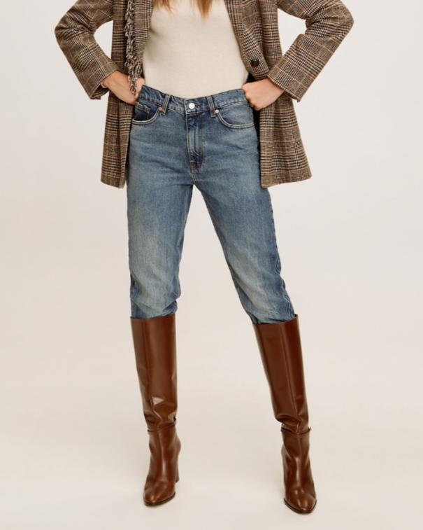 pantaloni cropped con stivali