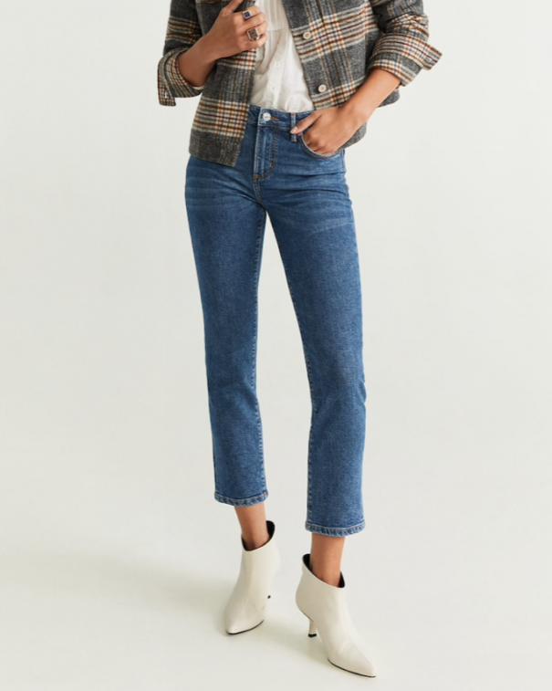 pantaloni cropped jeans