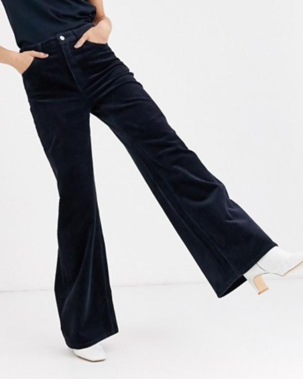 pantaloni in velluto neri