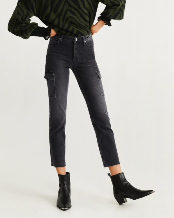 utility pants con tasche grigi