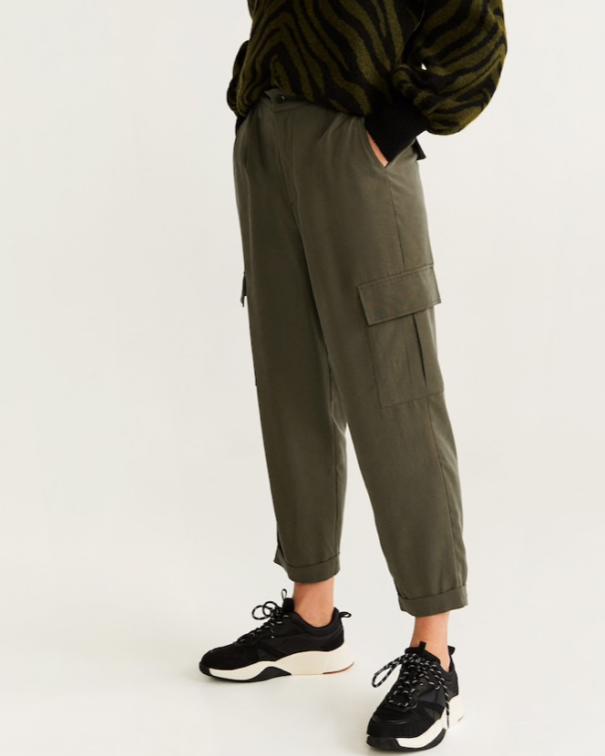 utility pants con tasche verdi
