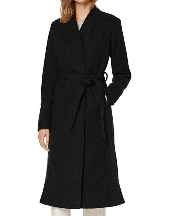 cappotto lungo nero