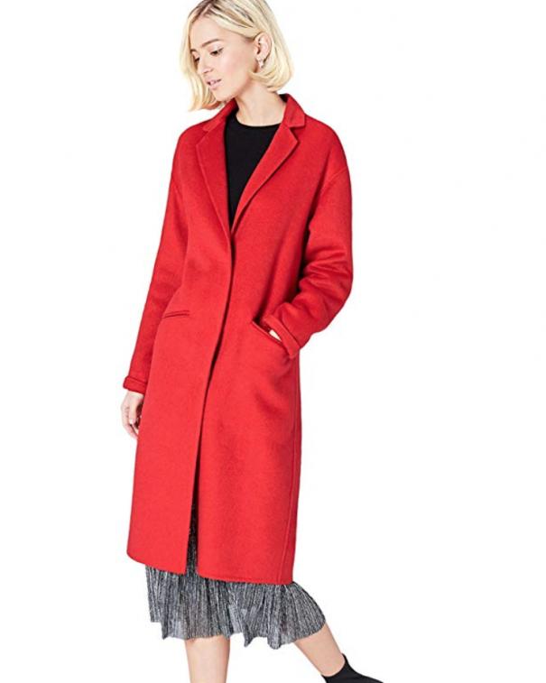 cappotto lungo rosso
