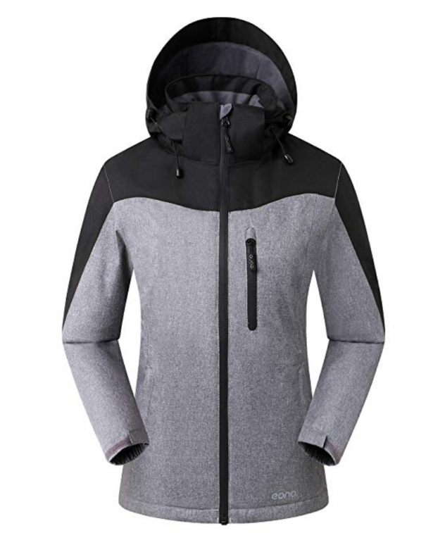 giacca da sci grigia