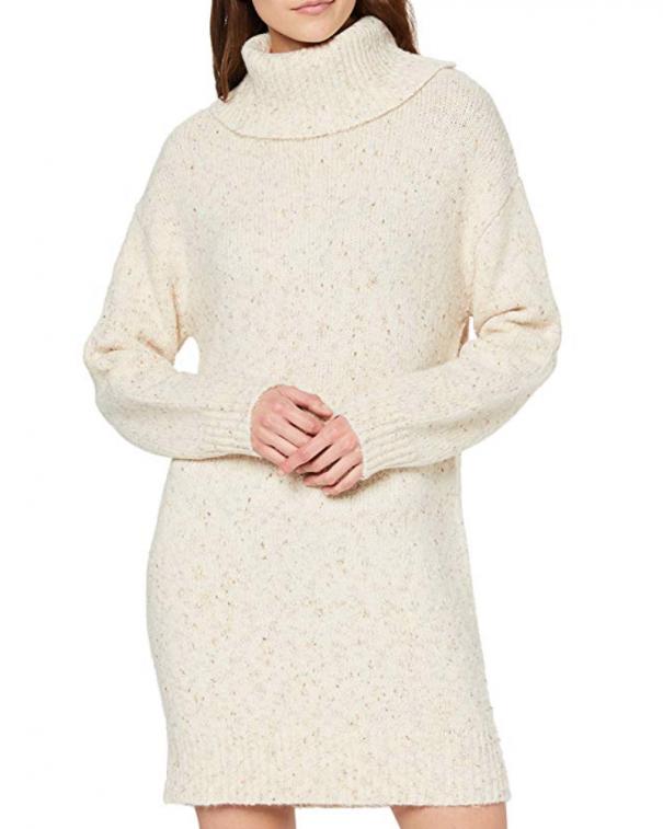 maglione bianco a collo alto