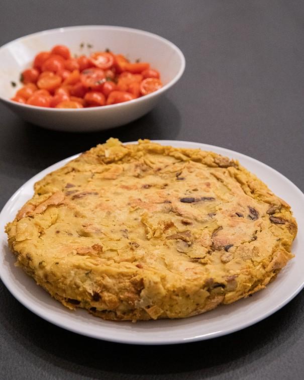 ricetta frittata senza uova di farina di ceci
