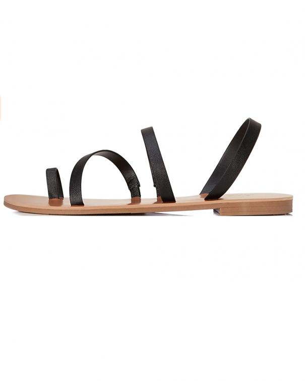 sandali bassi neri minimal