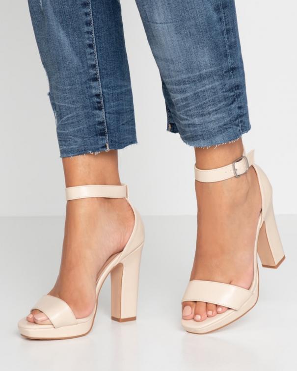 scarpe con tacco beige